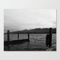 Fog Over The Lake Canvas Print