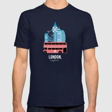 London, England Mens Fitted Tee Navy SMALL