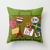 Wanderlust King Throw Pillow