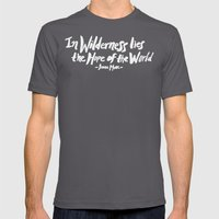 Wilderness Hope X John M… Mens Fitted Tee Asphalt SMALL