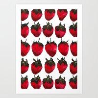 Little Strawberries Art Print