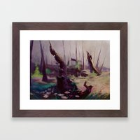 Rebirth | painted Bambi landscape Framed Art Print
