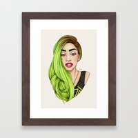Lady Neon Framed Art Print