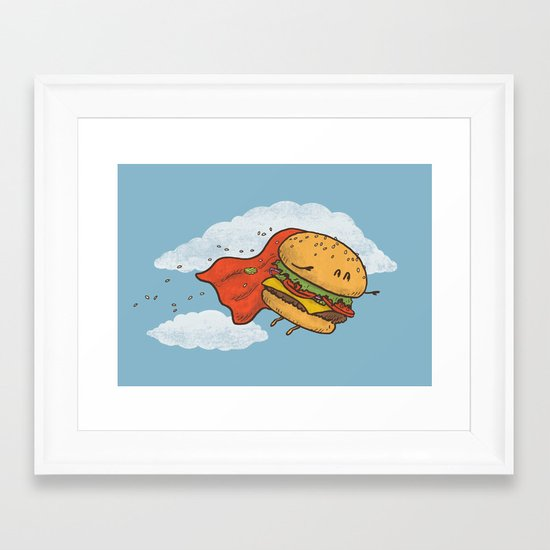 Superburger! Framed Art Print