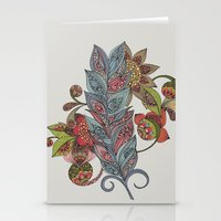 One little feather Stationery Cards