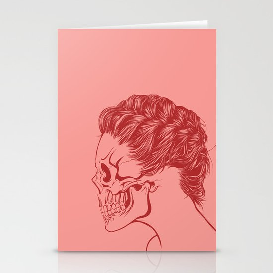 Skull Girl 4 Stationery Card
