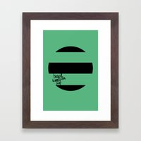 Brazil World Cup 2014 - Poster n°1 Framed Art Print