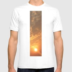 Sun in a corner Mens Fitted Tee SMALL White