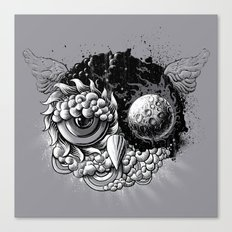 Owl Day & Owl Night Canvas Print