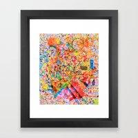 On The Map Framed Art Print