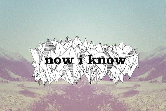 NOW, I KNOW Canvas Print