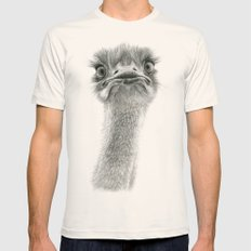 Cute Ostrich SK053 Mens Fitted Tee Natural SMALL