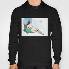 Reclining Nude Rear View Hoody