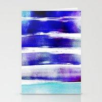 waves - indigo Stationery Cards
