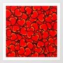 Hearts. Art Print