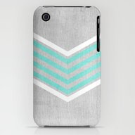 Teal And White Chevron O… iPhone (3g, 3gs) Slim Case
