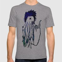 Tentacle X Mens Fitted Tee Athletic Grey SMALL