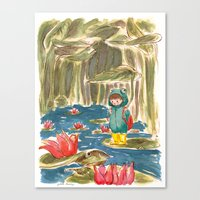 Little Frogs Canvas Print