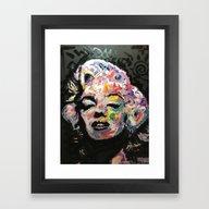 Framed Art Print featuring Hollywood by Matt Pecson