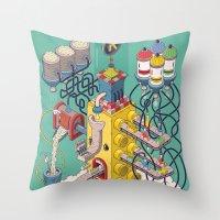 Rasti / Industria Argentina Throw Pillow