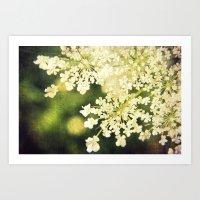 Sunshine White Art Print