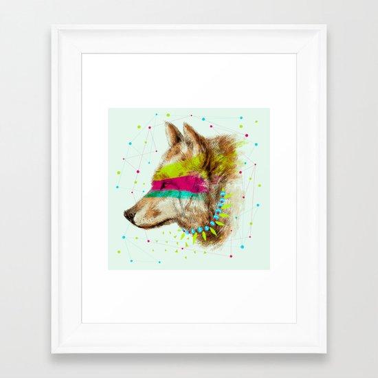 Cherokee Wolf II Framed Art Print