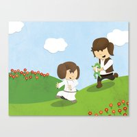 SW Kids - Han Chasing Le… Canvas Print