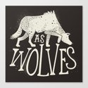 As Wolves Canvas Print