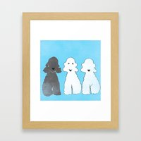 Bedlington Terrier Dogs Framed Art Print