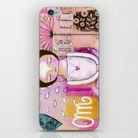 Om Meditation Woman iPhone & iPod Skin