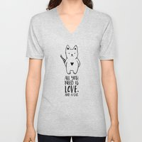All You Need Is Love. An… Unisex V-Neck