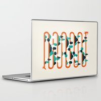 stripes Laptop & iPad Skins featuring Foxy stripes by Robert Farkas
