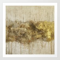 Gold Vein Art Print