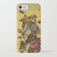 lady iPhone & iPod Cases featuring Fox Confessor by Lindsey Carr
