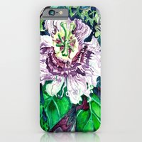 iPhone Cases featuring Passion Flower by D. Renee Wilson