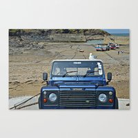 Land rover Port Issac Canvas Print
