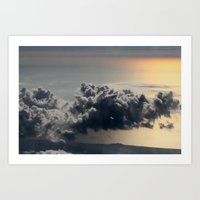 cloud above ocean Art Print