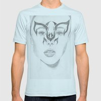 Catwoman Mens Fitted Tee Light Blue SMALL