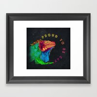 Proud to be Gay Framed Art Print