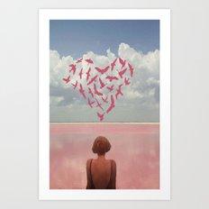Au Loin  Art Print