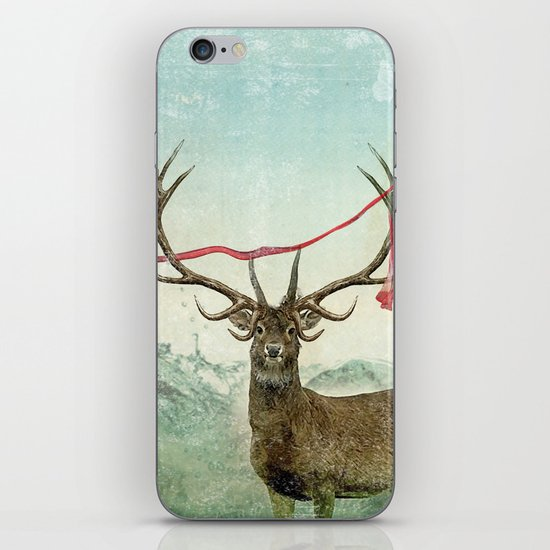 hold deer, tsunami iPhone & iPod Skin