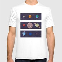 The 9 Planets! Mens Fitted Tee White SMALL