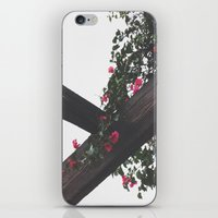 Wooden & Flowers iPhone & iPod Skin