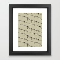 Metal Trees Framed Art Print