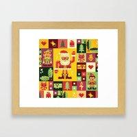 Christmas Geometric Patt… Framed Art Print