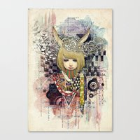 Thinking Rabbits Make Worlds Canvas Print