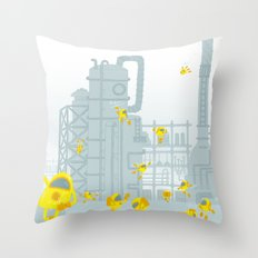 Smoldering Catalyst Throw Pillow