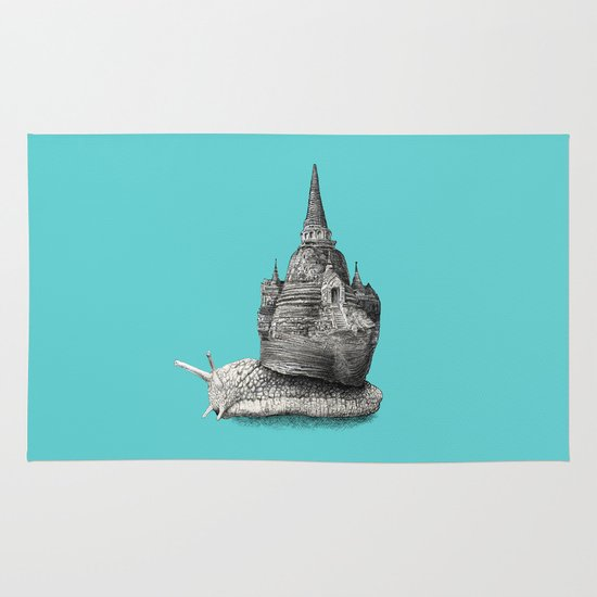 The Snail's Dream (monochrome option) Area & Throw Rug