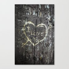 The Carving Tree - I Lov… Canvas Print