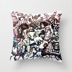 Domestic Parade Throw Pillow